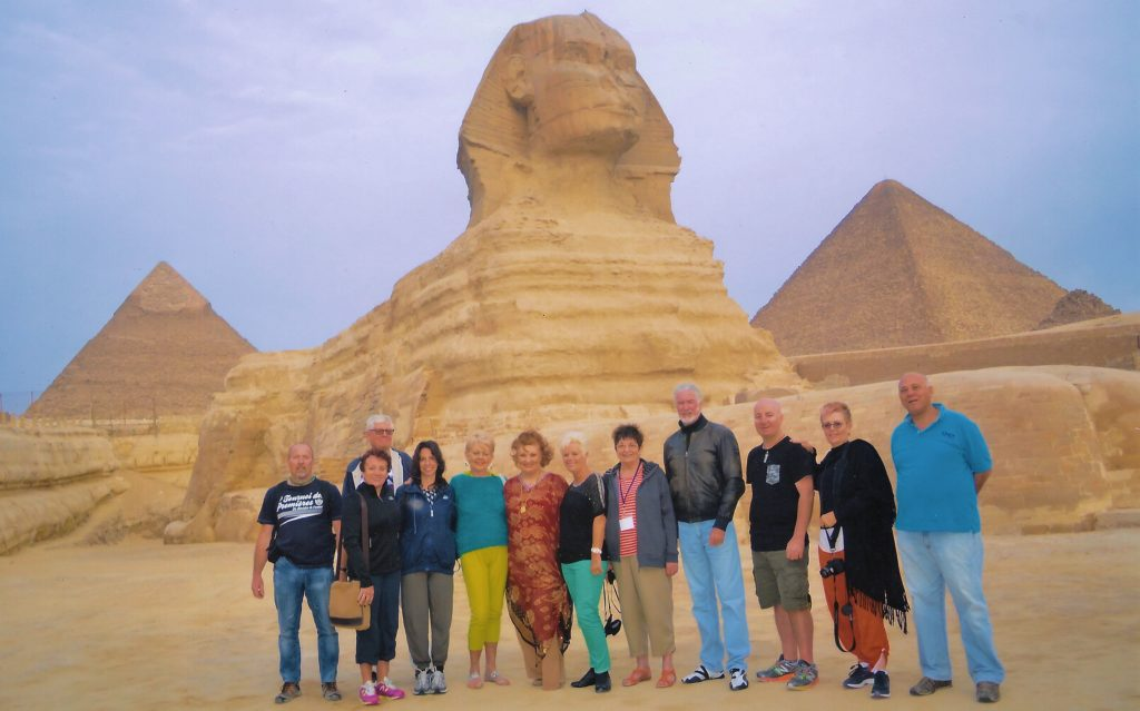 Retreat Tour of Egypt tour group at sphinx