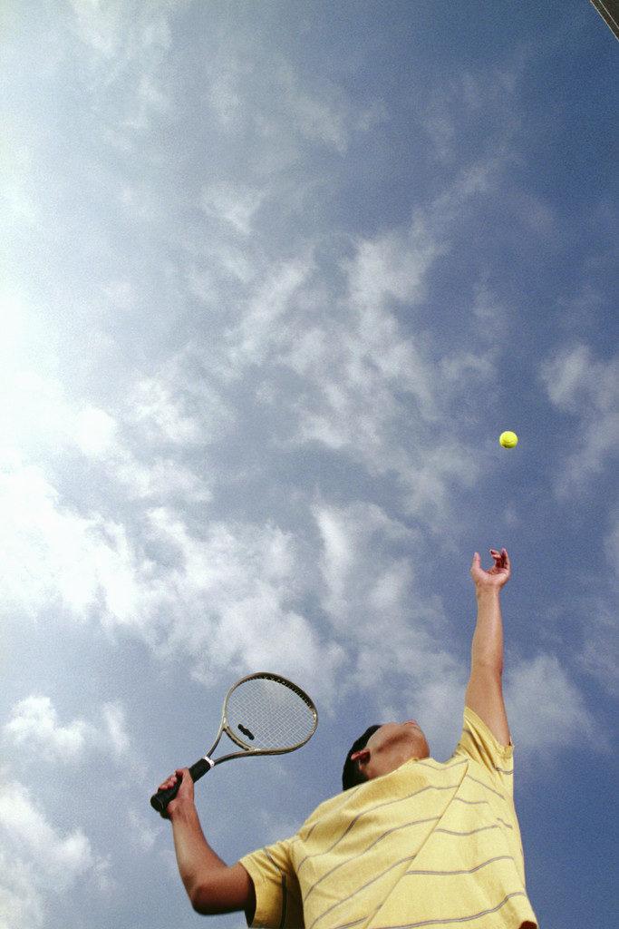 Hypnosis Sunshine Coast Man Serving Tennis Ball
